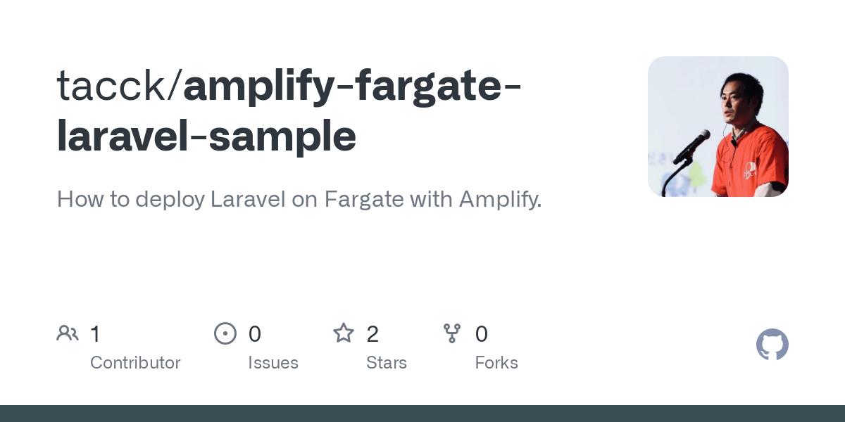 GitHub - tacck/amplify-fargate-laravel-sample: How to deploy Laravel on Fargate with Amplify.
